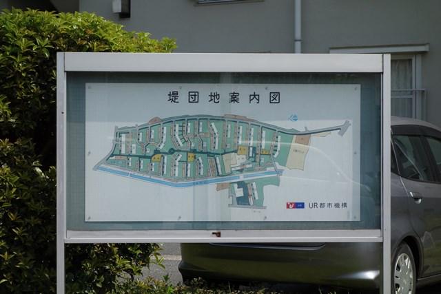 公団堤団地の案内図