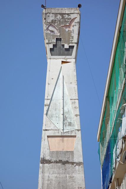 愛媛県営中須賀団地の給水塔東面