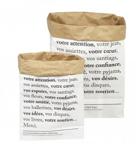 merci papier sac