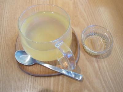 豆乳パンケーキ はちみつ(はちみつ柚子茶¥450)