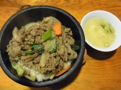 オムニ食堂(プルコギ石焼定食¥1050)