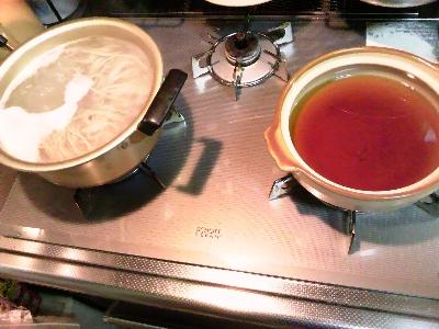 鍋焼きスタンバイ