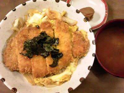 カツ丼味噌汁付き