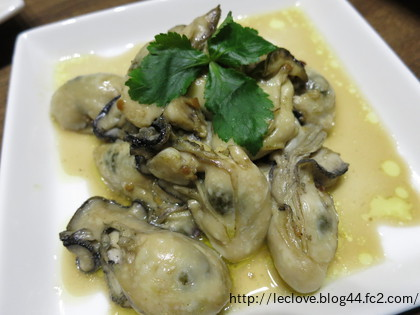 牡蠣のガーリックオイル焼き