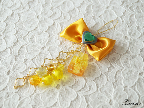 ハートキャッチプリキュア_キュアサンシャイン風ストラップ