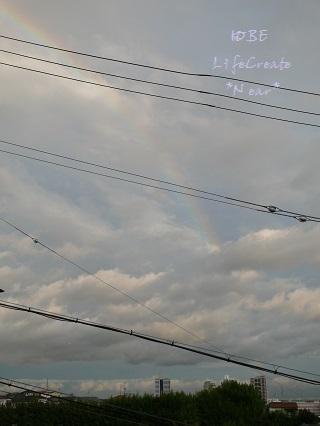 うっすらと希望の虹が♡