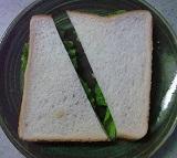 庭レタスのサンドイッチ