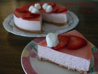 イチゴレアチーズケーキ♡