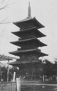 往年の谷中五重塔