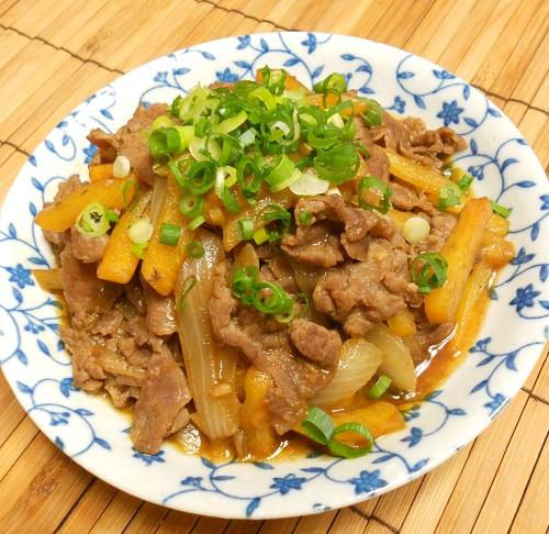 柿と牛肉の牡蠣ソース炒め&柿の大根おろしあえ&柿フライ14