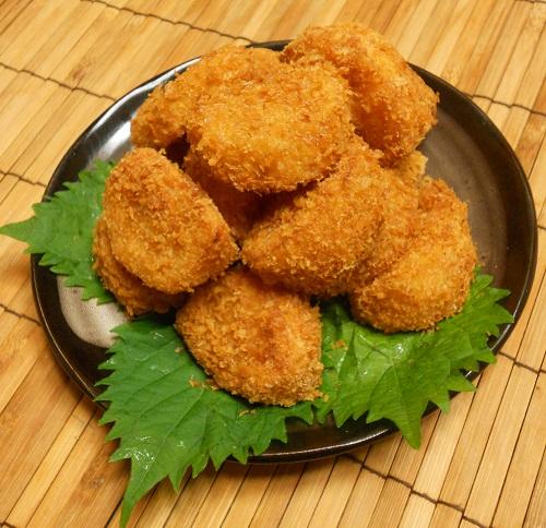 柿と牛肉の牡蠣ソース炒め&柿の大根おろしあえ&柿フライ18