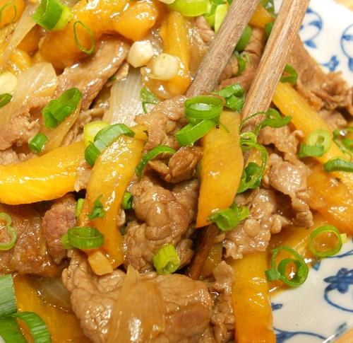 柿と牛肉の牡蠣ソース炒め&柿の大根おろしあえ&柿フライ15