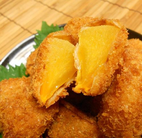 柿と牛肉の牡蠣ソース炒め&柿の大根おろしあえ&柿フライ19