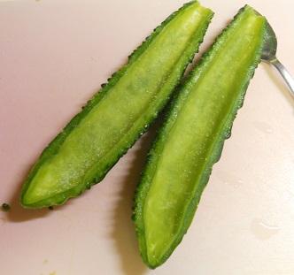 ゴーヤの納豆キムチグラタン1