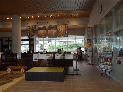 道の駅藤川宿の軽食コーナーの雰囲気