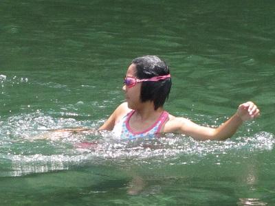 早く泳げるよ