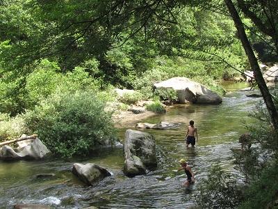 川の水は冷たいですか?