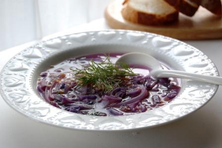 紫のスープ w