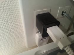 USBケーブル1本で配線