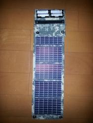 防災用発電機 単三電池を太陽光で充電