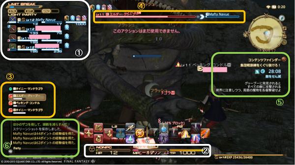 FF14画面の見方