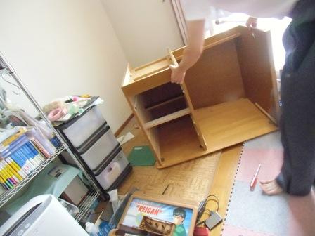 机の解体3