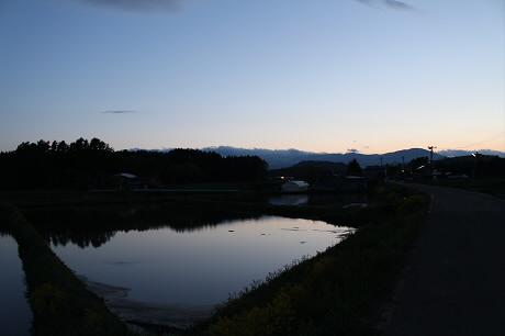 西根夕方田んぼのある風景04(2013.5.23)