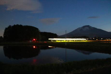 西根夕方田んぼのある風景10(2013.5.23)