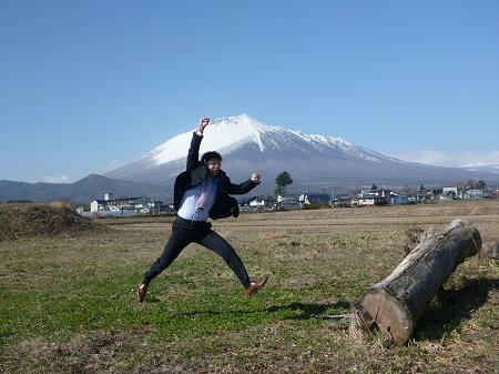 今日の天気01(2013.4.15)ジャンプ!