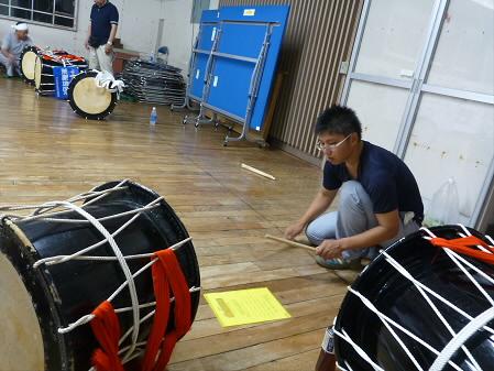 なにゃとやら太鼓練習09(2013.8.9)