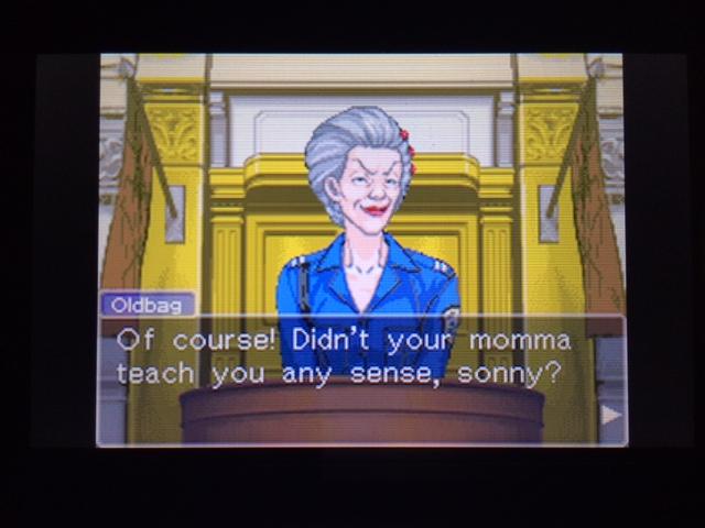 逆転裁判 北米版 オールドバグ証言46