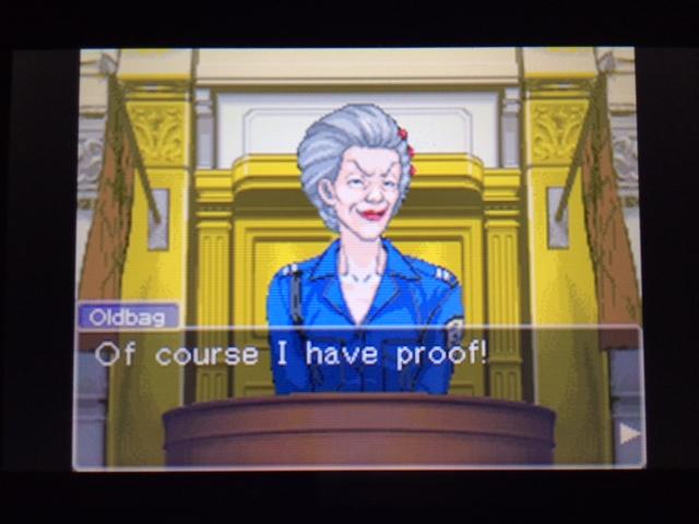 逆転裁判 北米版 オールドバグ証言58