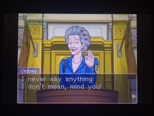逆転裁判 北米版 オールドバグ証言70