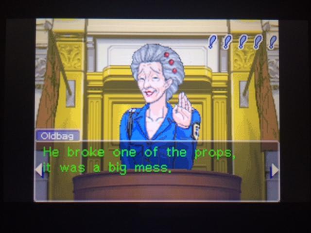 逆転裁判 北米版 オールドバグ証言107