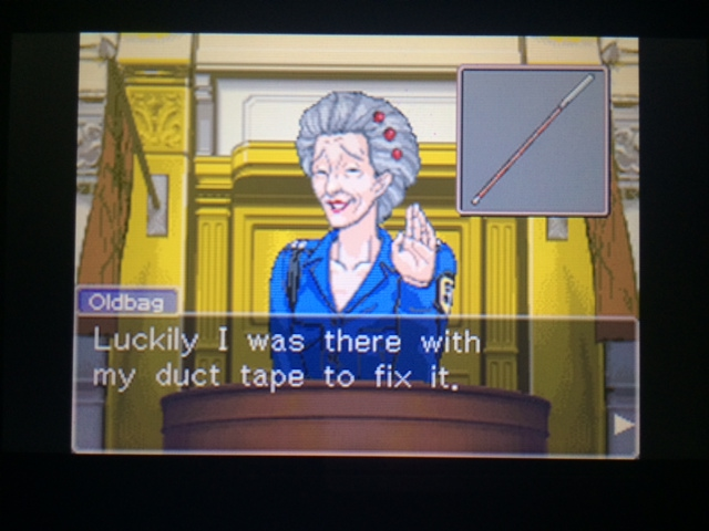 逆転裁判 北米版 オールドバグ証言111