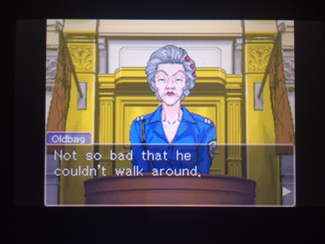 逆転裁判 北米版 オールドバグ証言116