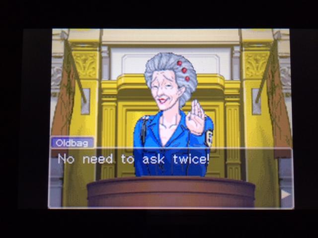 逆転裁判 北米版 オールドバグ証言139