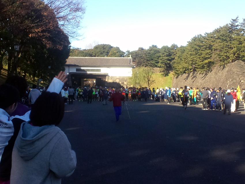皇居駅伝2014年12月スタート前1
