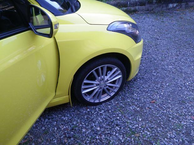 タイヤがちょっと変?