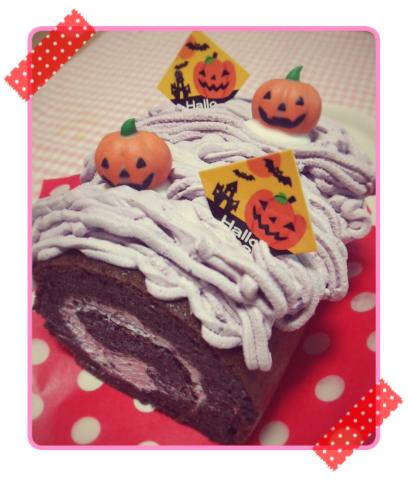 ハロウィンロールケーキ