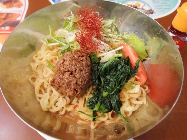 夏野菜の冷やしタンタン麺