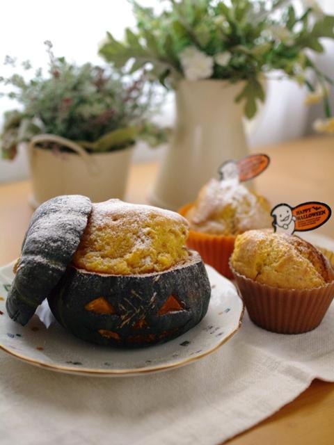 ジャックオランタンのケーキとかぼちゃのカップケーキ