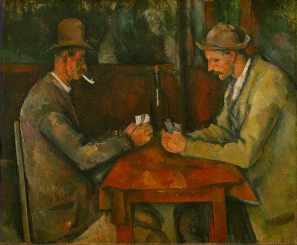 カード遊びをする二人の男たち