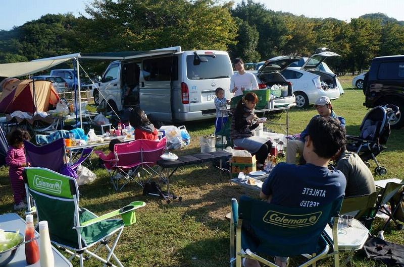 大池オートキャンプ場(朝)