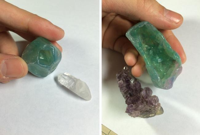 04 水晶・鉱物レジン 型どり