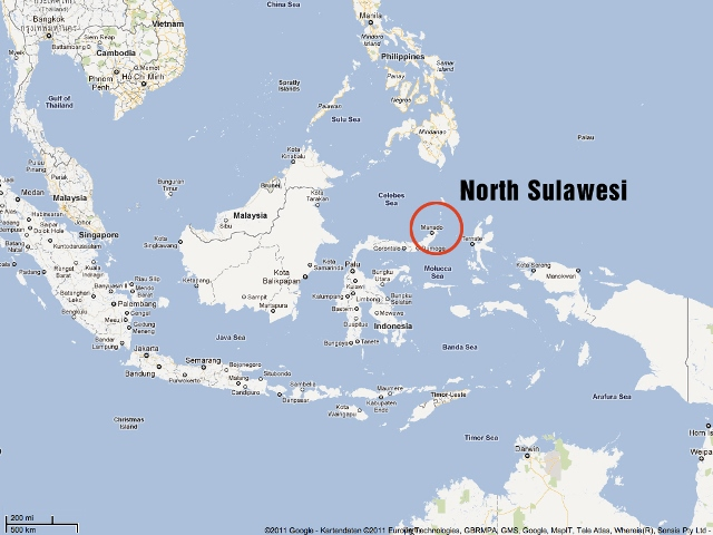 セレベス地図Map North Sulawesi