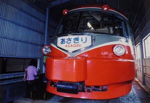 小田急3000形SE車3021編成(2001年10月・海老名検車区)