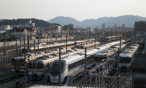 JR東海静岡車両区(2014年3月9日)
