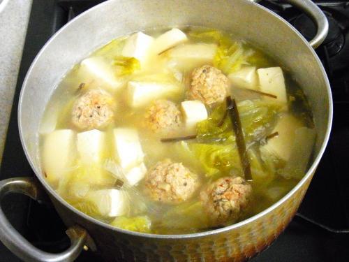 140113-221肉団子と豆腐と白菜のスープ煮(S)