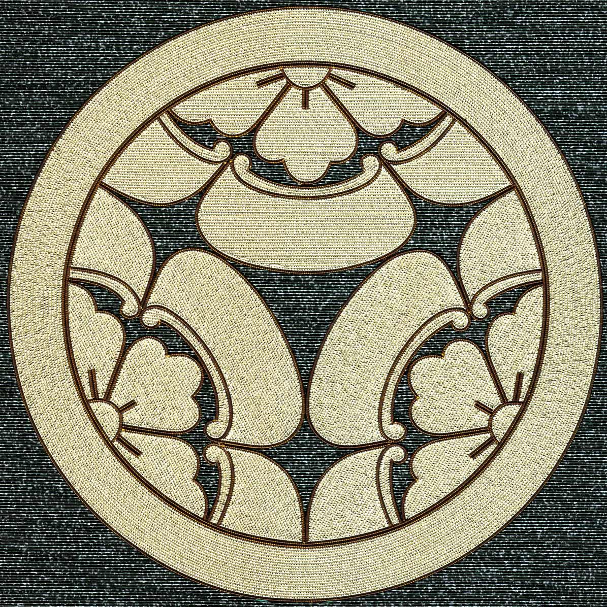 丸に三つ割木瓜紋